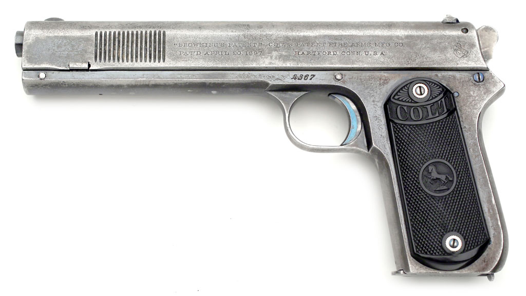 Colt 1902 Sporting  38 ACP Pistol Early Example with Rounded