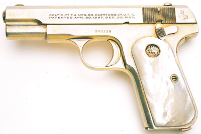Colt Model M .32 ACP Factory Gold Plated