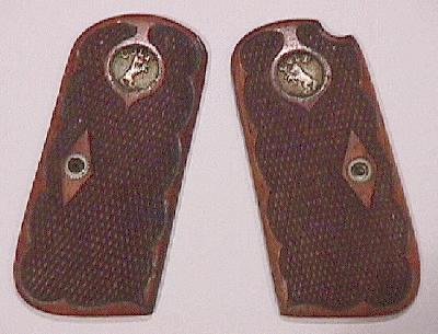 Model M Deluxe Checkered Walnut Grips with Recessed Medallions