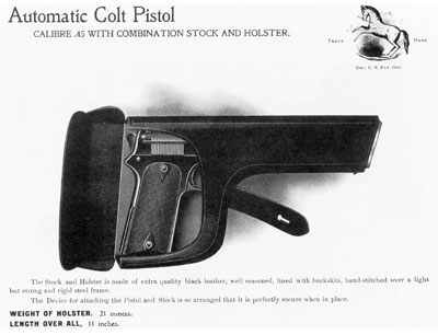 Model 1905 inserted in combination stock/holster.