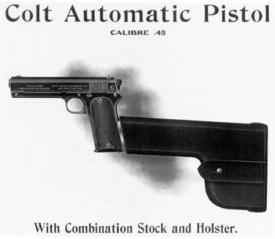 Model 1905 fitted with the combination stock/holster