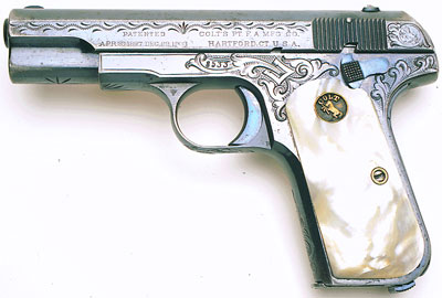 Model M .380 Factory Engraved and Inscribed