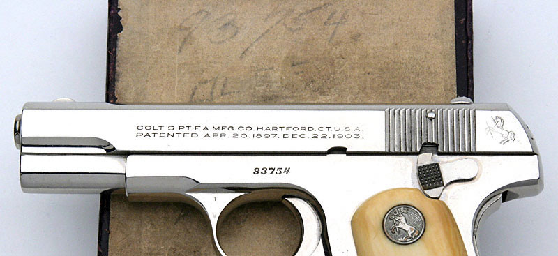 Colt Model 1908 Pocket Hammerless .380 ACP serial number 93754