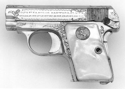 Factory Engraved & Inscribed Colt Model N