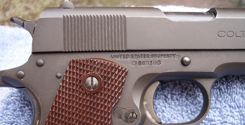 Colt M1911A1 U S  Army (1911A1)  45 ACP 1943 Commercial/Military US
