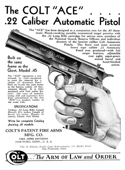 "Colt ""ACE"" Advertisement"