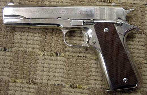 Colt Super Match  38 Pistol Nickel Fixed Sight - Coltautos com