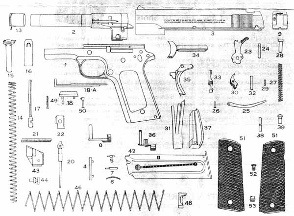 Colt Model 1911 45 Diagram Circuit Connection Diagram