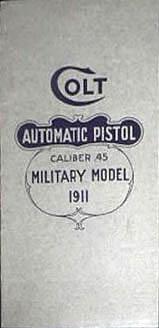 Colt Automatic Pistol Caliber .45 Military Model 1911 - Cover