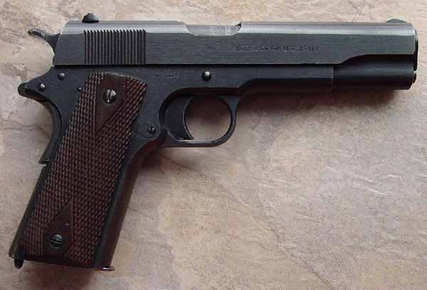 Colt Model 1911 Serial Number 599216 - Black Army