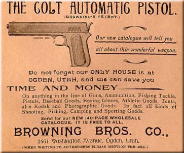 Browning Ad - Colt Model 1900