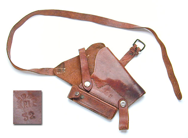 "Shoulder holster for Colt Model M Marked ""Manila. P.I."""