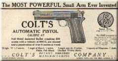 Early Ad for the Colt Model 1905