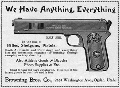 Browning Bros. Ad ca. 1904