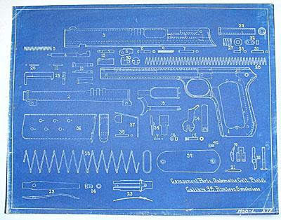 Colt 1900  38 ACP Pistol Sight Safety Blue Prints - Coltautos com