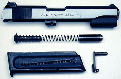 Component parts showing right side of slide