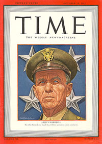 Time Magazine featuring General Marshall, October 19, 1942