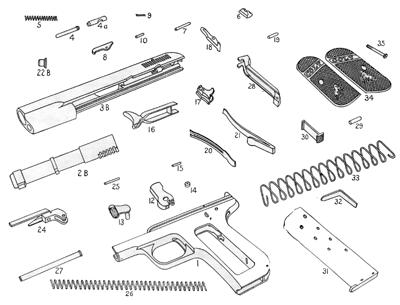 Colt Model M Parts Diagram