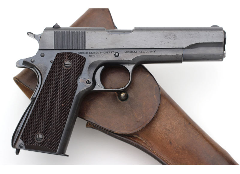 Colt M1911A1 .45 ACP CSR Inspected with Factory Coltrock Stocks.