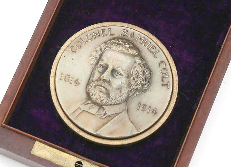 Colonel Samuel Colt Medallion Commemorating the 100th Anniversary of his birth (1814 - 1914).